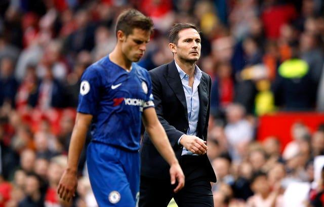 Lampard's first fixture at the helm of the club ended in a 4-0 loss to Manchester United