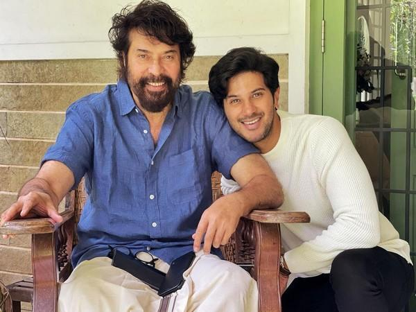 Dulquer with his father Mammootty (Image source: Instagram)