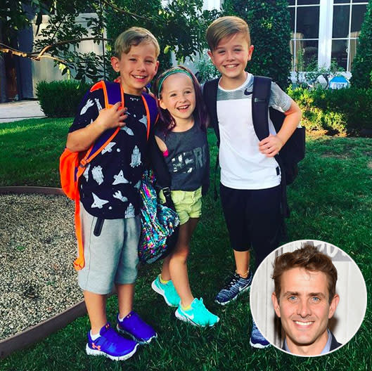 "<p>""#firstdayofschool – my babies all growing up,"" wrote New Kids on the Block's Joey McIntyre. ""#slowdown!!!"" (Photos: <a href=""https://www.instagram.com/p/BYr6CUoAytd/?hl=en&taken-by=joeymcintyre"" rel=""nofollow noopener"" target=""_blank"" data-ylk=""slk:Joey McIntyre via Instagram"" class=""link rapid-noclick-resp"">Joey McIntyre via Instagram</a>/Getty Images) </p>"