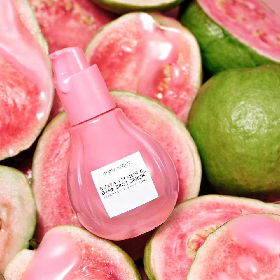 <p>Vitamin C is a part of our morning routine, and this new <span>Glow Recipe Guava Vitamin C Dark Spot Treatment Serum</span> ($45) is already a cult-favorite. It works for all skin types, so sign us up!</p>