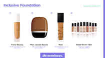 <p>Fenty Beauty, Marc Jacobs Beauty, NARS, and Bobbi Brown. (Art by Quinn Lemmers for Yahoo Lifestyle) </p>