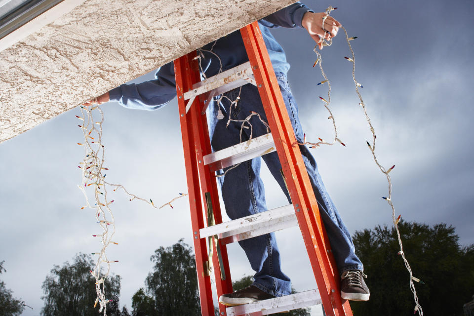Hanging Christmas lights has resulted in some nasty falls. (Stock, Getty Images)