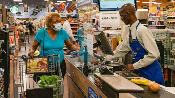 PHOTO: Tyler Perry treats seniors and higher-risk shoppers to free groceries at Kroger stores in Georgia. (Ray Dawson/Kroger)