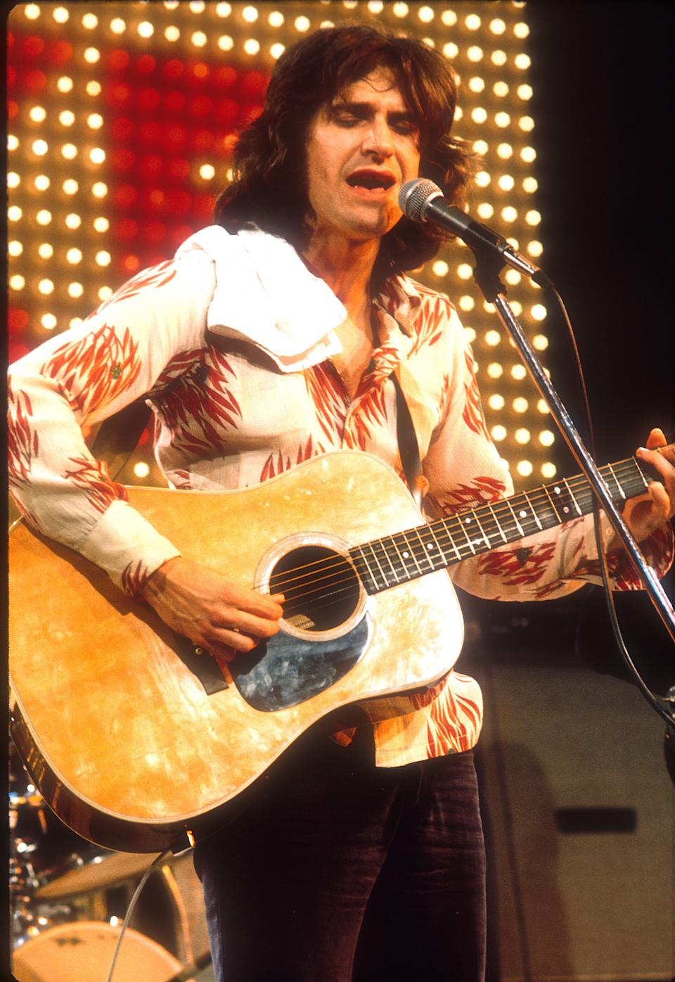 "THEN: Ray Davies of The Kinks on ""The Midnight Special"", 1970s. (Photo by Jeffrey Mayer/WireImage)"
