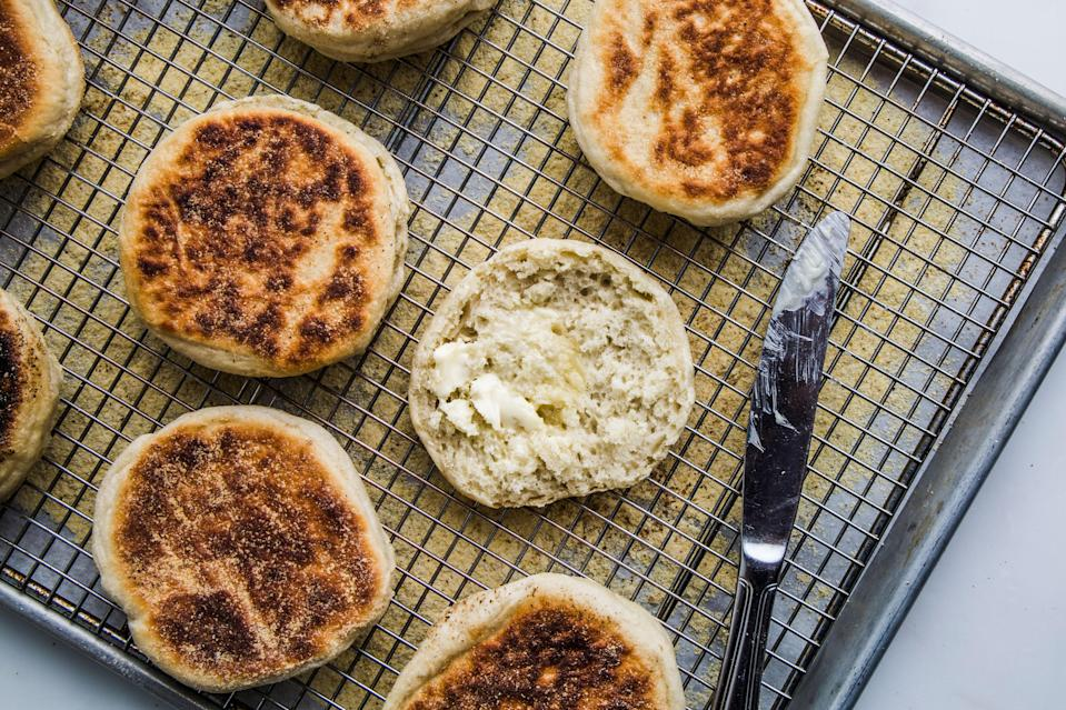 """<a href=""""https://www.bonappetit.com/recipe/bas-best-english-muffins?mbid=synd_yahoo_rss"""" rel=""""nofollow noopener"""" target=""""_blank"""" data-ylk=""""slk:See recipe."""" class=""""link rapid-noclick-resp"""">See recipe.</a>"""