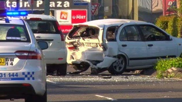 This is the crash site on the Central Coast highway where a man was killed by a third passing car. Photo: 7 News