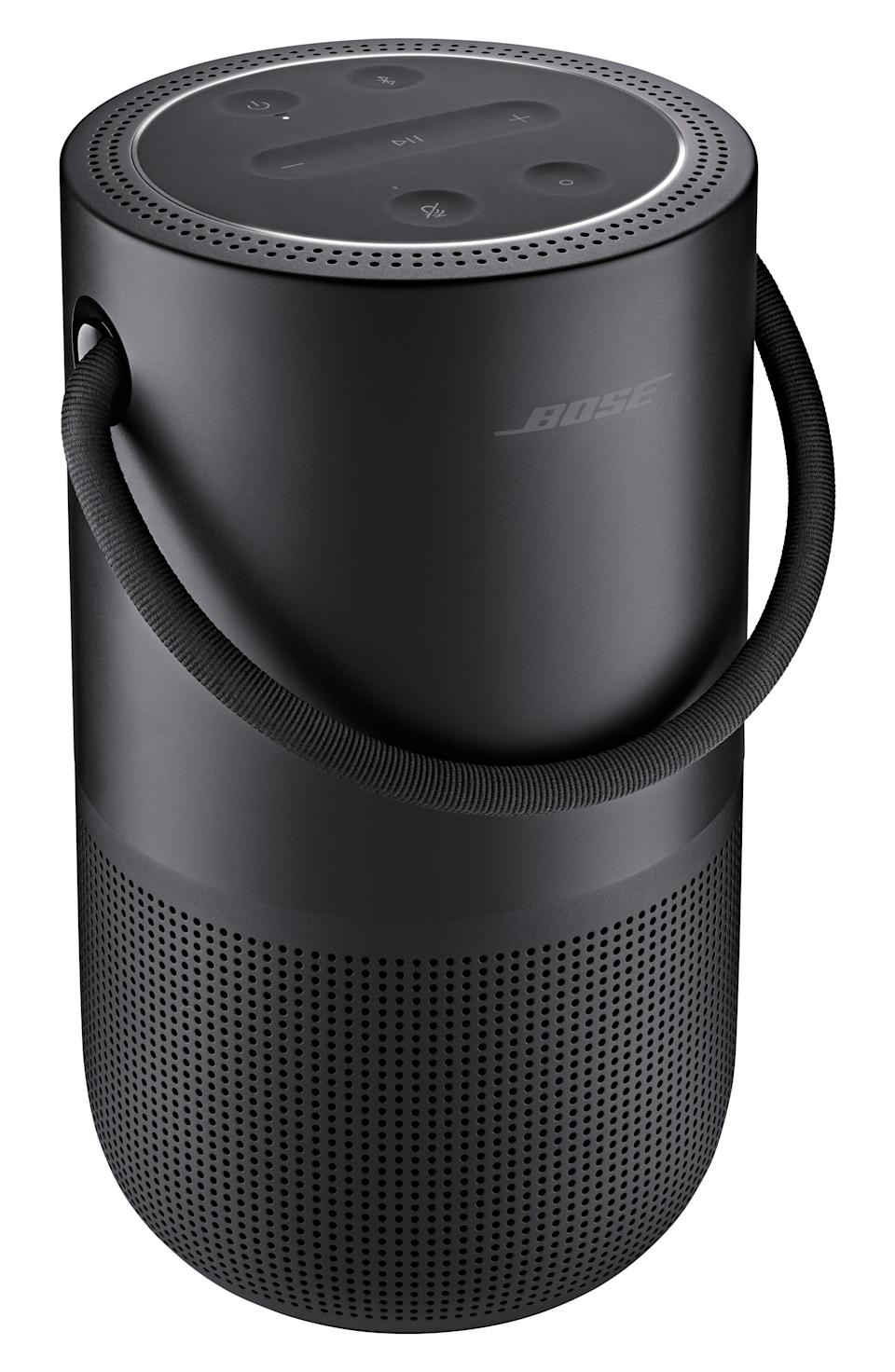 """<p><strong>BOSE</strong></p><p>nordstrom.com</p><p><strong>$299.00</strong></p><p><a href=""""https://go.redirectingat.com?id=74968X1596630&url=https%3A%2F%2Fshop.nordstrom.com%2Fs%2Fbose-portable-home-bluetooth-speaker%2F5438406&sref=https%3A%2F%2Fwww.cosmopolitan.com%2Fstyle-beauty%2Ffashion%2Fg27349308%2Fnew-dad-gift-ideas%2F"""" rel=""""nofollow noopener"""" target=""""_blank"""" data-ylk=""""slk:Shop Now"""" class=""""link rapid-noclick-resp"""">Shop Now</a></p><p>This lil fella might be small, but it produces a lot of sound. And it's waterproof, so no worries if water (or spit up) accidentally gets on it. </p>"""