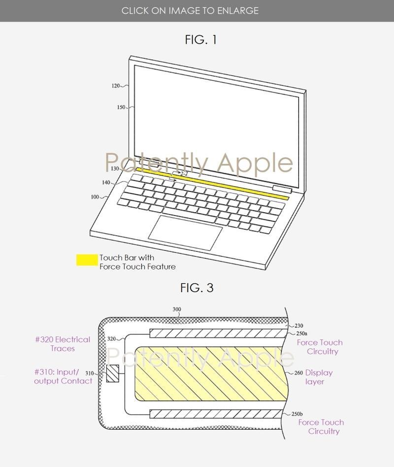 Apple's latest patent shows that Apple might just be implementing this in future MacBook Touch Bars, as first reported by Patently Apple. — Patently Apple pic via SoyaCincau