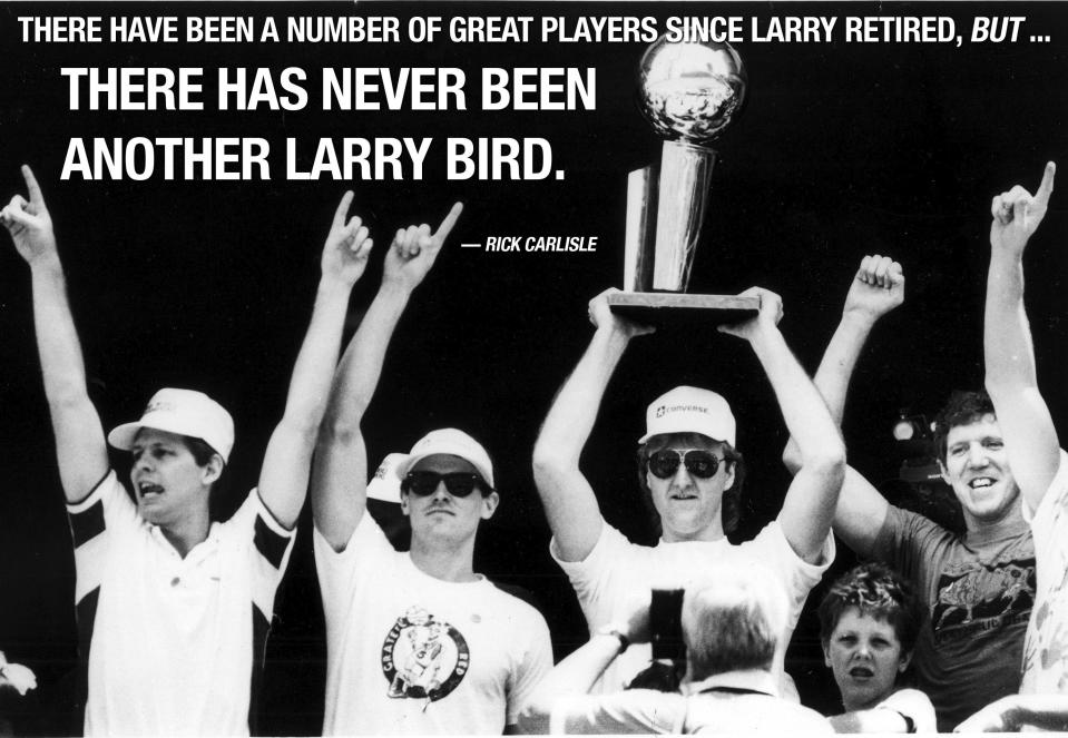 Rick Carlisle does not suffer fools when it comes to Larry Bird in today's NBA. (AP)