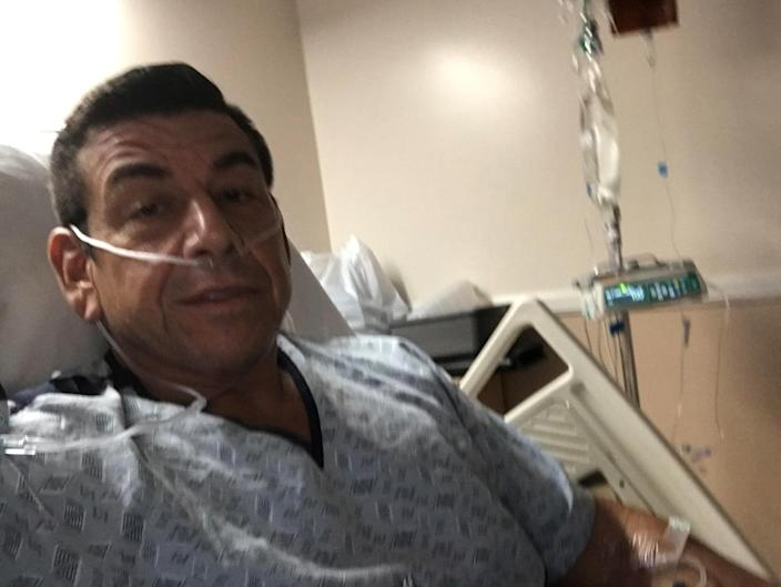Ruben Mata spent five days in a medically induced coma after being diagnosed with COVID-19. (Ruben Mata)