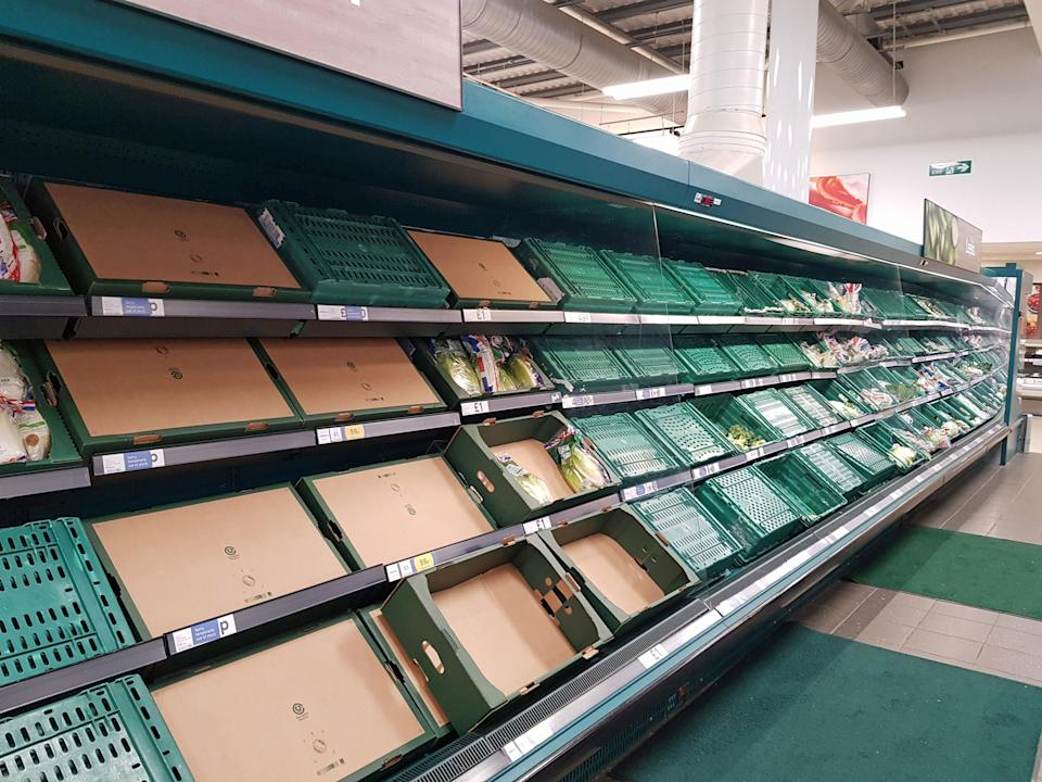 Supermarkets have been hit by supply problems after Brexit (Michael Drummond/PA)