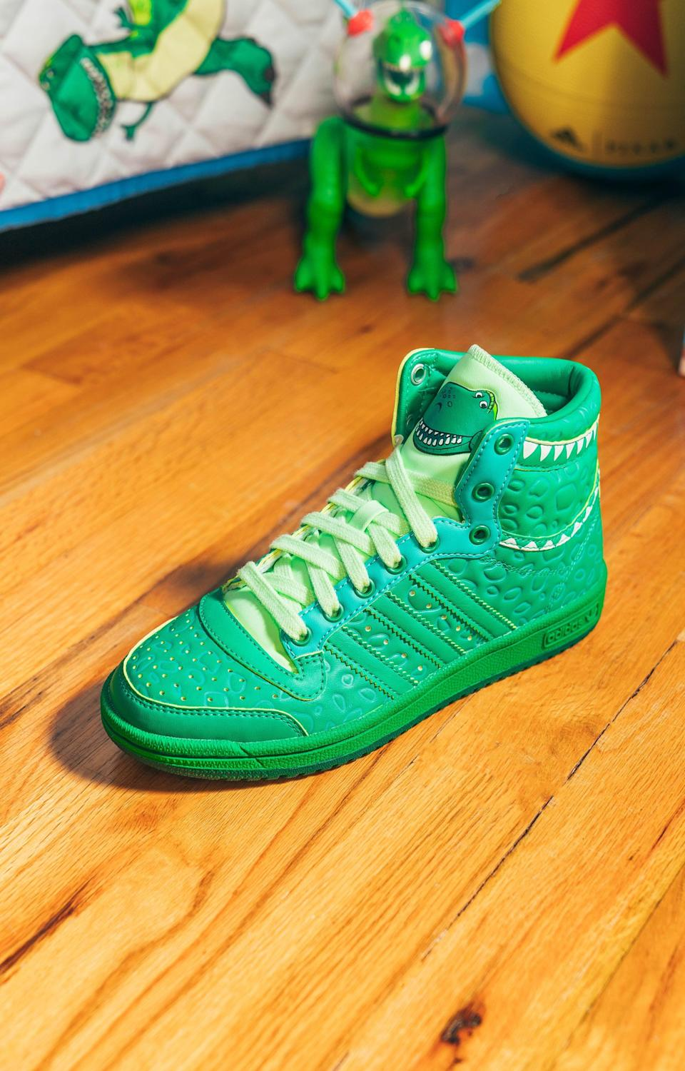 <p>We can confirm the Adidas Rex x Top Ten Hi Shoes will make your mini me stand out.</p>