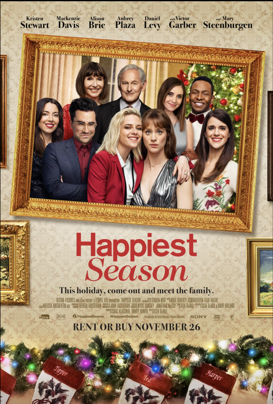 "<p>If you're the type to watch holiday movies year-round (guilty), this star-studded flick works anytime. Our protagonist plans to propose to her girlfriend at Christmas when they spend the holidays with her family, but on their way there, she finds out she isn't out to them. It's heartwarming, funny, and the outfits are A+. </p><p><a class=""link rapid-noclick-resp"" href=""https://go.redirectingat.com?id=74968X1596630&url=https%3A%2F%2Fwww.hulu.com%2Fmovie%2Fhappiest-season-8bd1884d-b39d-4dc7-9c44-29f07de2f1ef&sref=https%3A%2F%2Fwww.goodhousekeeping.com%2Flife%2Fentertainment%2Fg35217644%2Flesbian-movies%2F"" rel=""nofollow noopener"" target=""_blank"" data-ylk=""slk:STREAM NOW"">STREAM NOW</a></p>"