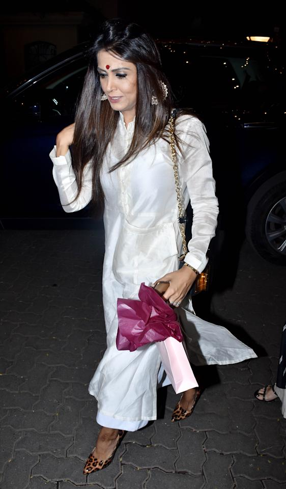 """<p>Ekta Kapoor became a mother on January 27 through IVF. The TV czarina named her son after her father Jeetendra. She shared the news on social media as she wrote, """"I can't wait to begin this new journey of being a mother to my little bundle of joy, Ravie Kapoor."""" Now, on Monday, Kapoor hosted a naming ceremony for her newborn, and in attendance were the who's who of the film and television industry. (PICS – YOGEN SHAH) </p>"""