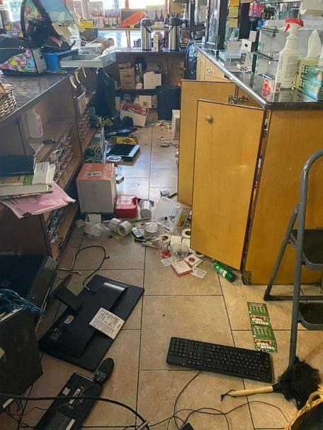 PHOTO: Anna Barounis' neighborhood store was looted by rioters in Boston, following the city's peaceful protest that turned violent. (Courtesy Anna Barounis)