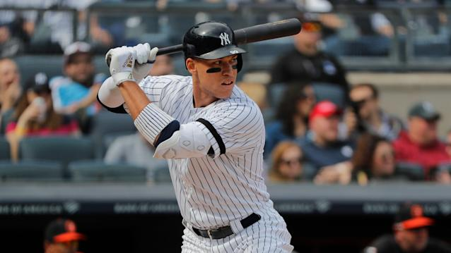 Aaron Judge might be able to feast on baseballs even more than usual in 2019. (AP Photo/Julie Jacobson)