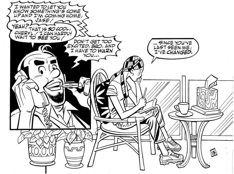 """In this image from Archie Comics, the character Cheryl Blossom finds out she has been diagnosed with breast cancer and has to make the decision of whether to stay on her own in California or return home to Riverdale, home of Archie, Reggie, Betty and Veronica. The story debuts in this month's issue of """"Life With Archie."""" (AP Photo/Archie Comics)"""
