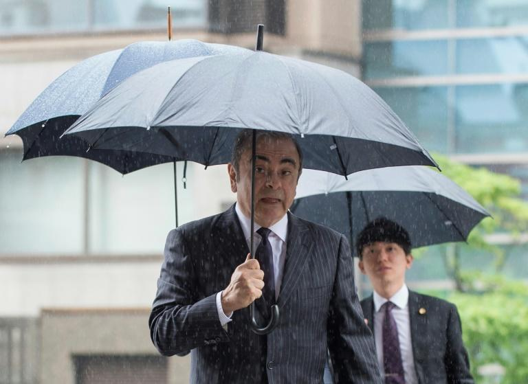 Former Nissan boss Carlos Ghosn denies all the charges (AFP Photo/Kazuhiro NOGI)