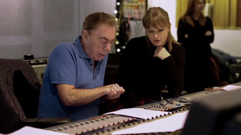 Andrew Lloyd-Webber and Taylor Swift (Credit: Universal)