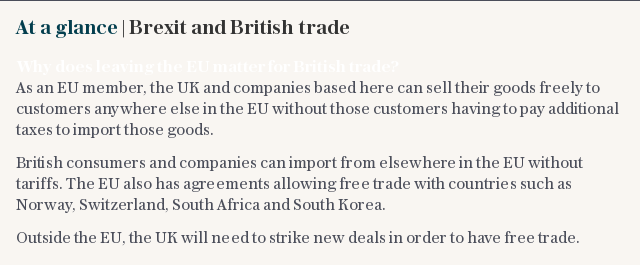 At a glance | Brexit and British trade