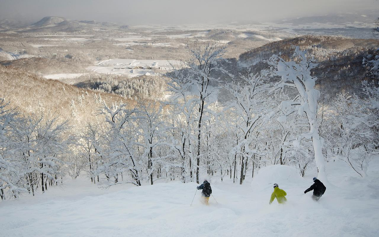 "The northern Japanese island of Hokkaido is renowned for having vast quantities of the lightest, fluffiest snow known to humankind. In its snowiest years, resorts such as Niseko, Rusutsu and Furano can receive up to 17m of the white stuff. To put that in perspective, the annual average of perennial Brit favourite Val d'Isère is between four and six metres. Over the past 10 years, this deep cover has attracted film-makers, photographers and increasing numbers of British and North American skiers to what many consider is the holy grail of powder skiing. But accessing terrain away from pisted runs has always been a grey area, with some resorts actively enforcing a ban while others turn a blind eye. This was certainly the case three years ago when I last visited, but much has changed since then. Many of the key resorts have made the situation clearer and, in one case, offer a guiding service to take you to previously banned areas. Rusutsu is renowned for its well-spaced trees, but before the 2014/15 season, anything away from the pisted runs was technically out of bounds. ""So many people were going into the trees that there were more people there than on the runs,"" says Paul Hanlon, international manager of Rusutsu's ski school. ""The ski patrol didn't know what to do."" Kiroro delivers the goods. @kirororesort #hokkaido #japan @SkiSafari #japanroadtrip A post shared by Telegraph Ski and Snowboard (@telegraphskisnowboard) on Feb 21, 2017 at 6:41am PST The resort requested permission from the Forestry Office – a government body that looks after all woodland – to let skiers and snowboarders access the terrain, effectively making it inbounds. The request was granted with one caveat – it cannot be actively promoted on the resort's website, suggesting the practice is permitted but not condoned. Rusutsu. Fresh snow. What's not to love. #rusutsuresort-official #japanroadtrip @SkiSafari A post shared by Telegraph Ski and Snowboard (@telegraphskisnowboard) on Feb 20, 2017 at 5:06am PST In a further step, this season Rusutsu has introduced an inbounds guiding programme with qualified ISIA instructors. There is still out of bounds terrain that tempts the more adventurous, notably one area on a ridge between the resort's West mountain and Shiribetsu mountain. The 15-20 minute hike accesses an excellent area, but can be prone to avalanche. Hanlon suggests that a backcountry gate could be introduced here in future to allow access, but at your own risk. We want to create a sustainable backcountry cultureMark Wyckmans Furano used to be renowned for strictly enforcing a policy that prohibited any skiing away from designated runs, but that all changed in the 2013/14 season. Fencing that used to line either sides of the pistes was removed, and you can now ski wherever you want within the resort boundary. Long-term resident Scott Tovey says, ""As a result of the change in policy we have been inundated by European side-country skiers."" The resort has also introduced six backcountry access gates. Snowboarder Jenny Jones's top five Japan tips 01:34 The snowiest resort in Hokkaido, Kiroro, has adopted a very clear-cut approach. International marketing assistant Mark Wyckmans says, ""Right from the start we want to create a sustainable backcountry culture."" This means if you ski away from the piste you have to go through one of the backcountry access gates. In Japan, if you ski in the backcountry, you're supposed to fill in a plan of your route and give it to the local police office and the forestry office. In reality, many don't. Hokkaido is also known for its hot springs Credit: © Radius Images / Alamy Stock Photo/Radius Images / Alamy Stock Photo In Kiroro, the rule is enforced but they make the process simple. The forms are at the lift office, where you hand them in once completed. After you've finished for the day, you need to check back in. Failure to do so could be costly – if a search and rescue party is sent to find you, you'll pick up the tab. And there's a very strict policy on people jumping ropes within the resort boundary to access unpisted terrain. If you do it and a ski patrol sees you, they will take your pass away. Last season Kiroro launched a Mountain Club membership scheme. For 1,000 yen a day (£7) you supply your route plan an hour earlier than non-members (8am rather than 9am) to be first in line for fresh powder and have exclusive access to an in-bounds, ungroomed run until midday. This more clear-cut approach to backcountry skiing might be the way forward, but it's in contrast to what's still happening in Hokkaido's largest and most successful resort, Niseko. Here things don't appear to have changed much in the past three years. Despite rules clearly stating you should not duck ropes, it still seems commonplace, and although there is an extensive network of backcountry gates, I suspect few skiers and snowboarders are filling in the required paperwork to use them. The best ski resorts youve probably never heard of So while the situation is less grey in Hokkaido, it's still far from black and white. One thing is for sure, though – the appeal of Hokkaido is only growing. Rob Stanford from the Warren Smith Ski Academy, which has been running courses in Niseko for the previous 10 years, says, ""We've seen demand grow year on year and this season for the first time we ran two trips – 35 people in the first week, 42 in the second."" The Telegraph has teamed up with specialist operator Ski Safari (01273 224068; skisafari.com) to offer a 10 night hosted trip to Japan's top powder resorts on the northern island of Hokkaido – Niskeo, Rusutsu, Kiroro, Furano and Asahidake – from £3,750 per person. The trip will be led by Japan ski expert and ex-racer Kenji Matsuzawa and The Telegraph's ski editor Henry Druce. They will be on hand to make sure everything runs smoothly and ski with you on the slopes. Price includes return flights with BA and JAL from London Heathrow to Sapporo via Tokyo, transfers and b&b accommodation, all lift passes, three days of professional off piste guiding, day trips to Hokkaido's snowiest resort Kiroro, and to the island's highest mountain and live volcano Asahidake, welcome reception and end of trip party with great prizes. Read the full details and book here."