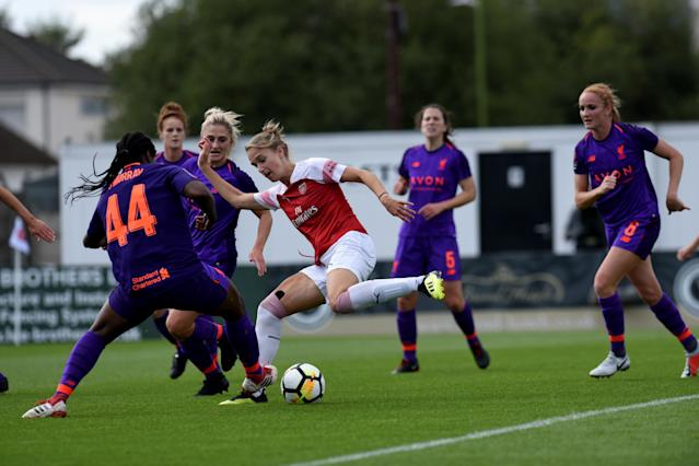 Vivianne Miedema scored a hat-trick for Arsenal