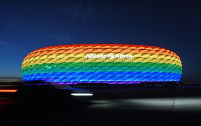 The Allianz Arena was lit in rainbow colours in 2016 for Munich's Christopher Street Day