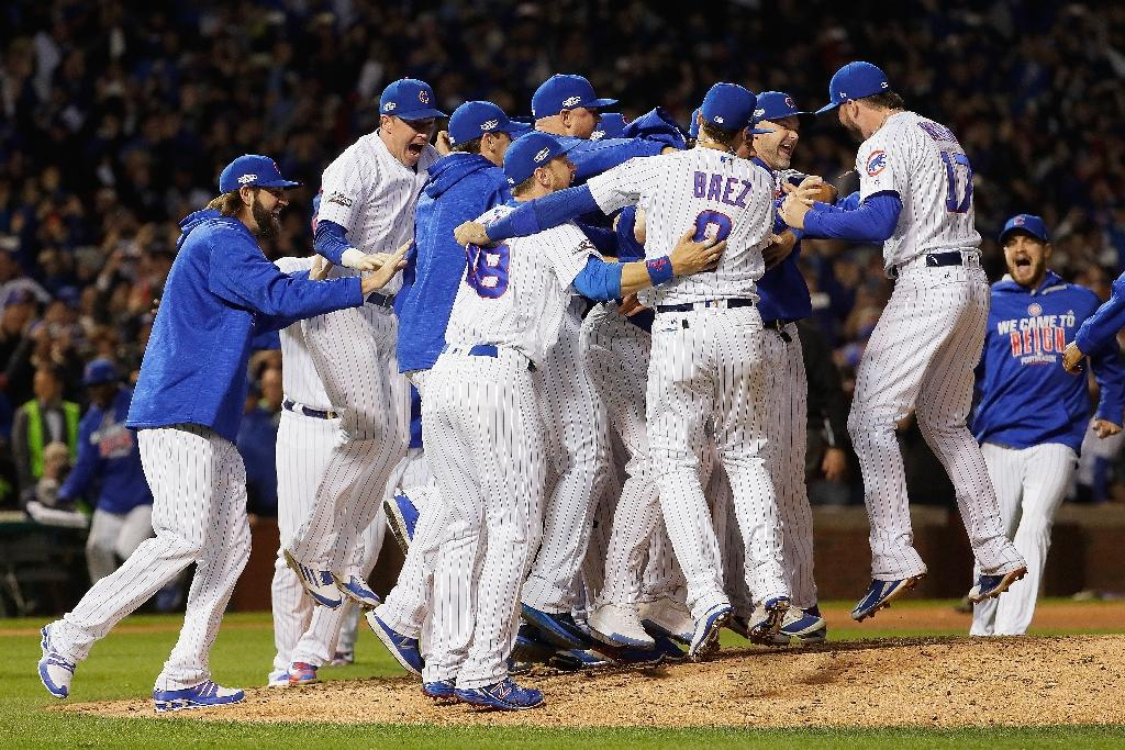 The Chicago Cubs haven't won the world Series since 1908, and last played in Major League Baseball's championship showcase in 1945 (AFP Photo/Jamie Squire)