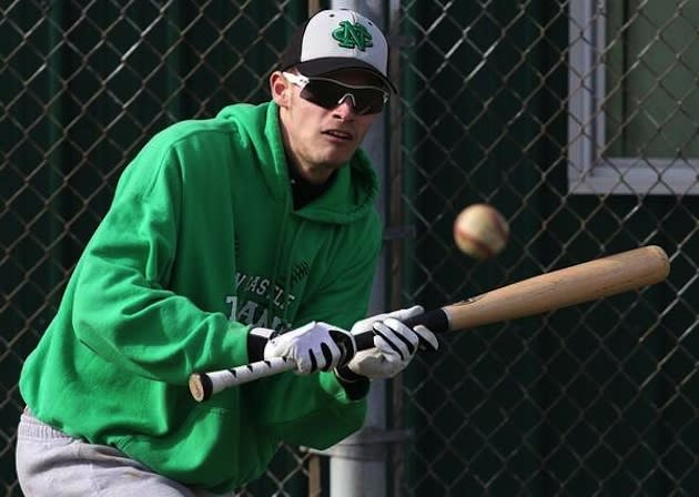 New Castle star Trey Ball swings a wood bat of his own volition and is considered a likely first round MLB pick — NCTrojans.net