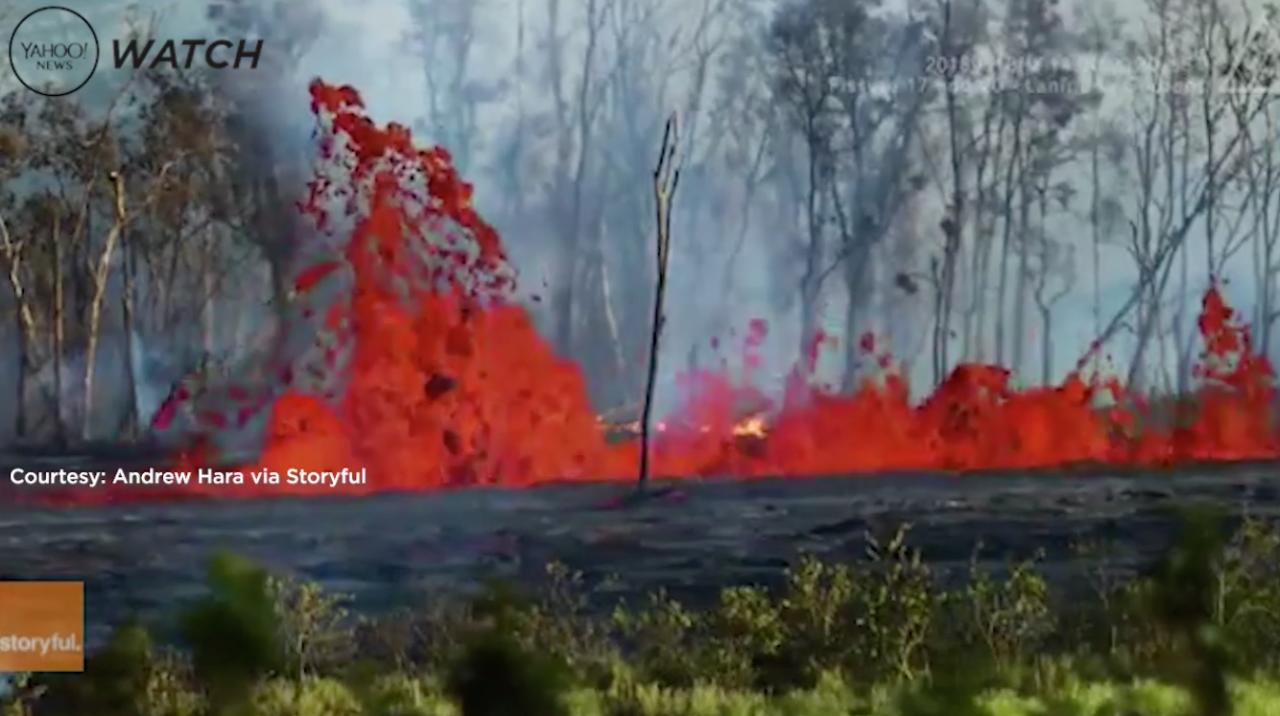 At least 22 lava fissures have opened in Puna, Hawaii, since an earthquake shook the ground near the Kilauea volcano.