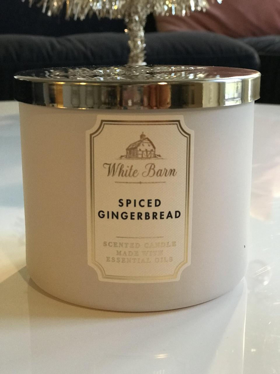 <p><span>3-Wick Candle</span> ($15, originally $25)</p> <p><strong>What It Smells Like:</strong> Exactly as you hope it would. Like a classic, delicious gingerbread cookie.</p>
