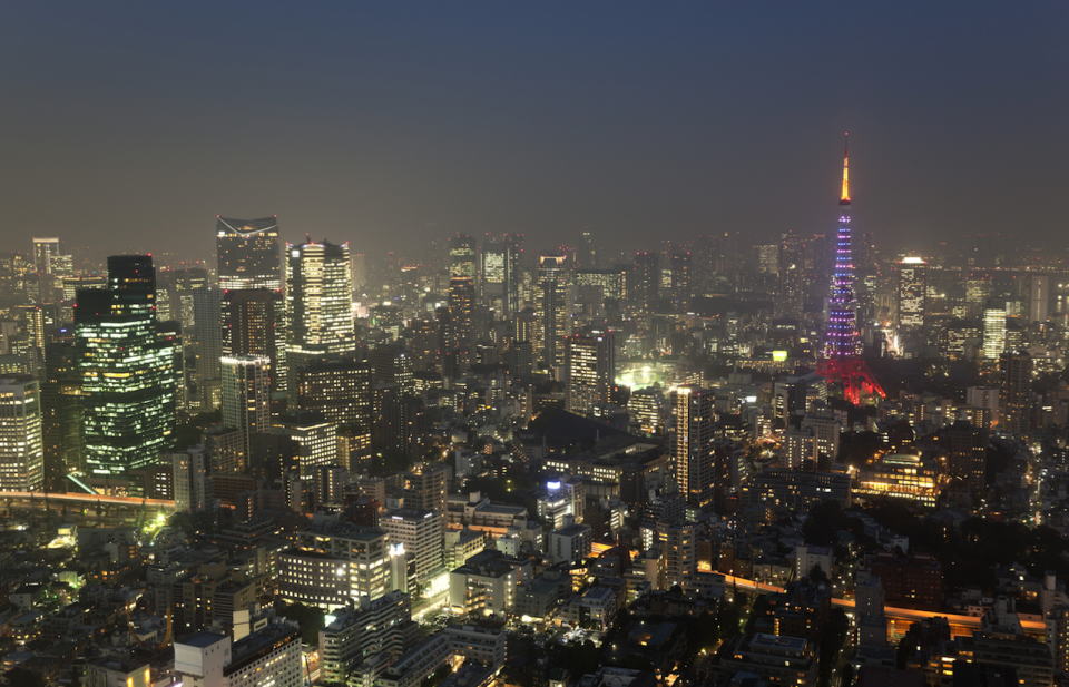 <p>Japan secured joint tenth place with Ireland. Here's the futuristic skyline of Tokyo (Picture:REX) </p>