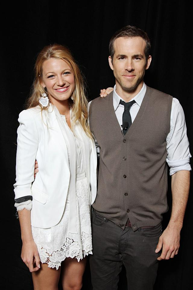 "<a href=""http://movies.yahoo.com/movie/contributor/1808631078"">Blake Lively</a> and <a href=""http://movies.yahoo.com/movie/contributor/1800025139"">Ryan Reynolds</a> attend the Warner Bros. presentation at the 2011 CinemaCon in Las Vegas, Nevada on March 31, 2011."