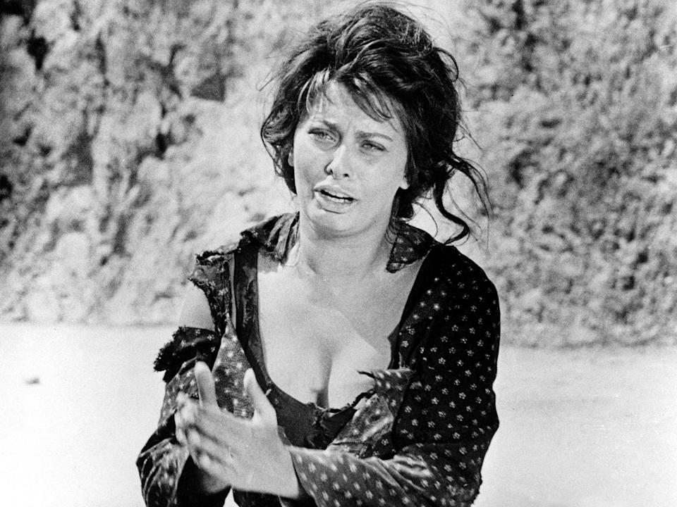 In 1960, Loren became the first-ever actor to win an Oscar for a non-English-language performance, in 'Two Women'Rex Features