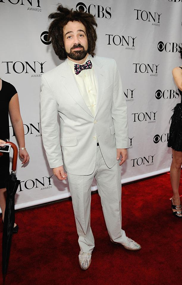 """Counting Crows frontman Adam Duritz really needs to update that 'do because his Krusty the Clown look is tragic and tired. Kevin Mazur/<a href=""""http://www.wireimage.com"""" target=""""new"""">WireImage.com</a> - June 15, 2008"""