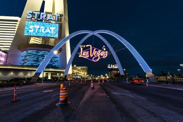 The new Gateway Arches in Las Vegas.