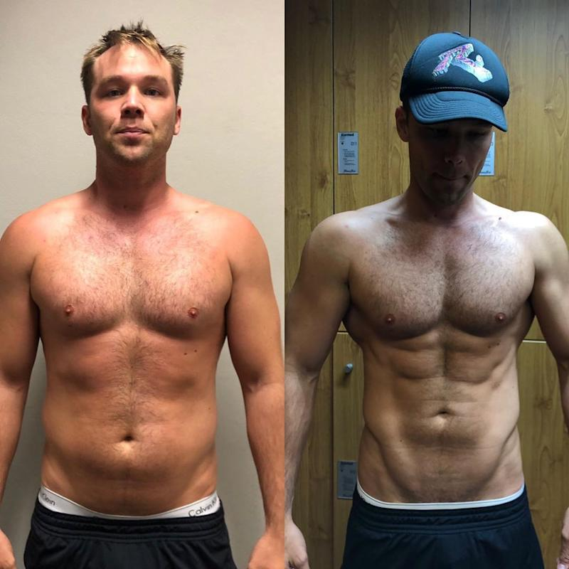 Lincoln Lewis before and after body transformation