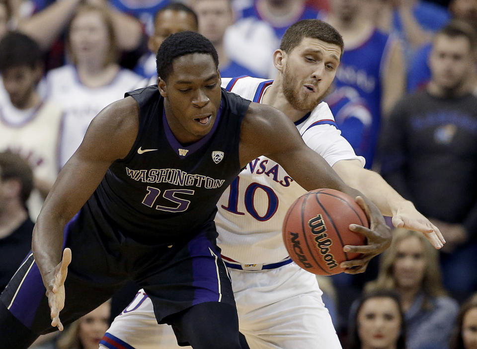 Washington topped Kansas for its first road win against a top 2 team in 23 tries. (AP)