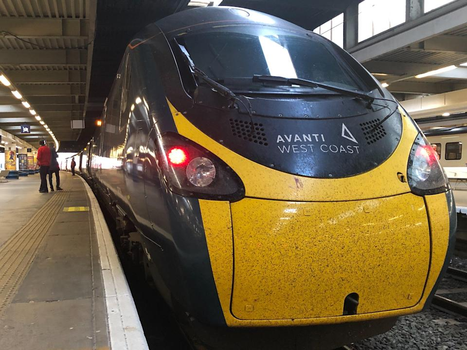 Rare sight: Avanti West Coast trains from London to Manchester are reduced from three to one per hour (Simon Calder)