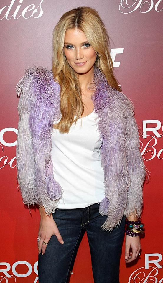 "Aussie chanteuse Delta Goodrem is beyond gorgeous, but her hideous purple jacket has got to go. Did she skin a Muppet or something? Richie Buxo/<a href=""http://www.splashnewsonline.com"" target=""new"">Splash News</a> - June 1, 2008"
