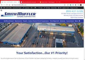 Picture One: Smith Muffler's New WebsiteSmith Muffler – Complete Automotive Care revs up their customized, completely rebuilt, high performance website.  Smith provides complete bumper to bumper service for cars, trucks and high performance vehicles.    Fourth generation, family owned and operated – Covington, Kentucky.
