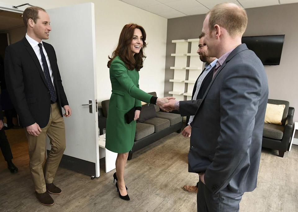 <p>And ... we're back! Kate wore the Erdem coat again in 2016 during a visit to St. Thomas' Hospital in London. </p>