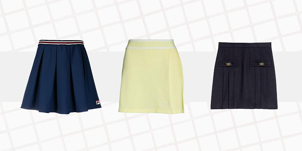 """<p class=""""body-dropcap"""">The eagle-eyed fashion editors at <em>T&C </em>have happened upon a curious trend this summer: the co-opting of tennis skirts for off-court style, whether it's for brunch dates in Brooklyn, or morning grocery runs, or even—we're not kidding—in-flight comfort. Perhaps it shouldn't come as a surprise. It wasn't that long ago that it was deemed completely appropriate to wear Lululemon leggings <em>everywhere</em>. But with tennis skirts, one could argue there is more of a best-of-both-worlds compromise to the look, between wanting <a href=""""https://www.townandcountrymag.com/style/fashion-trends/a36256169/how-to-style-miniskirts-outfits/"""" rel=""""nofollow noopener"""" target=""""_blank"""" data-ylk=""""slk:a super-short hemline"""" class=""""link rapid-noclick-resp"""">a super-short hemline</a> for the post-pandemic debut of Pilates-toned legs and not feeling quite ready to give up the <a href=""""https://www.townandcountrymag.com/style/fashion-trends/g31898993/flattering-leggings/"""" rel=""""nofollow noopener"""" target=""""_blank"""" data-ylk=""""slk:comforts of athleisure"""" class=""""link rapid-noclick-resp"""">comforts of athleisure</a>. Also, with those built-in shorts, couldn't it be that the tennis skirt—and its cousin, <a href=""""https://www.townandcountrymag.com/style/fashion-trends/a36041587/what-to-wear-for-apres-golf/"""" rel=""""nofollow noopener"""" target=""""_blank"""" data-ylk=""""slk:the golf skirt"""" class=""""link rapid-noclick-resp"""">the golf skirt</a>—is truly the last, and only, acceptable way to incorporate <em>skorts</em> into an adult wardrobe without feeling like a second grader? Maybe these early adopters are onto something after all. Below, 17 of the best tennis skirts for on—and off—the court. No athletic ability required.<br></p>"""