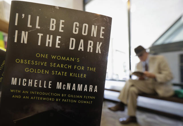 <em>I'll Be Gone in the Dark: One Woman's Obsessive Search for the Golden State Killer</em> on sale at a bookstore in San Francisco. (AP Photo/Jeff Chiu)