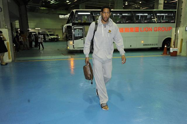 TAIPEI, TAIWAN - OCTOBER 13: Danny Granger #33 of the Indiana Pacers arrives before the game against the Houston Rockets at the 2013 Global Games on October 12, 2013 at the Taipei Arena in Taipei, Taiwan. (Photo by Bill Baptist/NBAE via Getty Images)