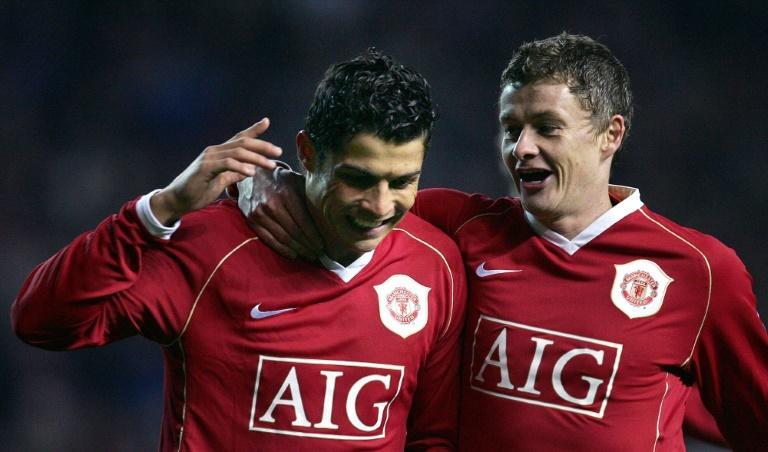Ole Gunnar Solskjaer lauded Cristiano Ronaldo as the greatest player of all time (AFP/PAUL ELLIS)