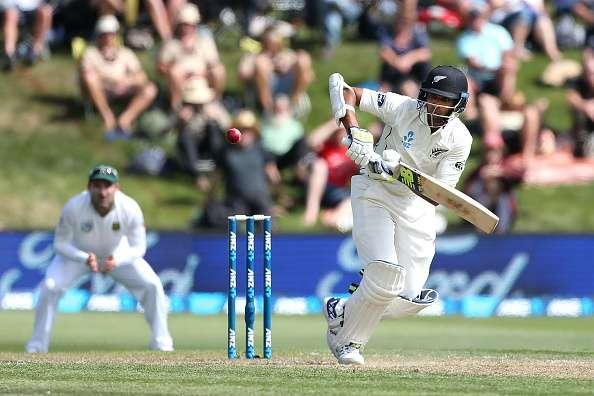 DUNEDIN, NEW ZEALAND - MARCH 09: Jeet Raval of New Zealand bats during day two of the First Test match between New Zealand and South Africa at University Oval on March 9, 2017 in Dunedin, New Zealand. (Photo by Dianne Manson/Getty Images)