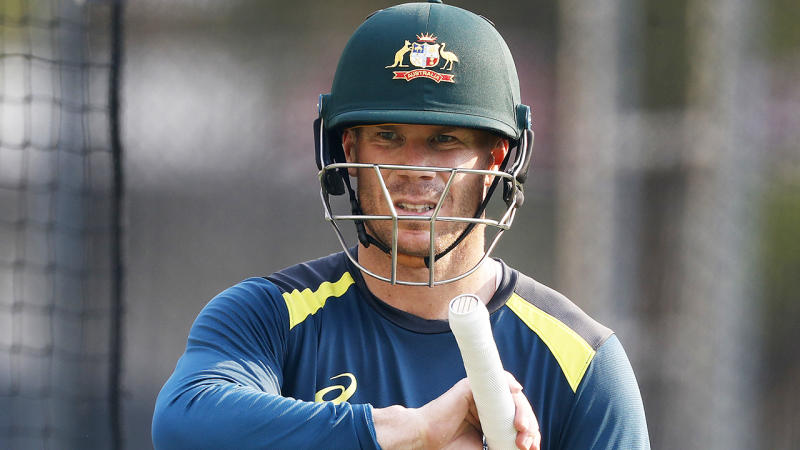 David Warner is looking to bounce back from a torrid Ashes series when Australia take on Pakistan. (Photo by Ryan Pierse/Getty Images)