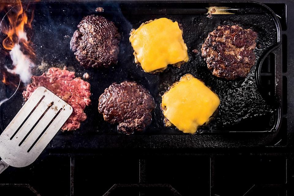 "<p>It's no exaggeration to say that Josh Ozersky is something of an expert on burgers. He literally wrote the book on the subject—<em><a href=""https://www.amazon.com/Hamburger-History-Icons-America/dp/030015125X"" rel=""nofollow noopener"" target=""_blank"" data-ylk=""slk:The Hamburger: A History"" class=""link rapid-noclick-resp"">The Hamburger: A History</a></em>. His favorite burger, which is really saying something, comes from Jose Soto, who was the grill cook at the now defunct White Diamond, a slider joint in Linden, New Jersey. Ozersky managed to coax the recipe, which owes as much to the technique as the ingredients, out of Soto, and made it his own. Then he shared it with us.</p> <p>Josh says the recipe is ""simple, but it isn't easy, because it has to be done quickly, so it may need some practice."" The sliders are cooked individually, and Josh warns that each one gets a little harder to cook because the pan becomes messier. You should find, however, that the results are well worth any difficulty.</p> <a href=""https://www.epicurious.com/recipes/food/views/josh-ozerskys-favorite-burger?mbid=synd_yahoo_rss"" rel=""nofollow noopener"" target=""_blank"" data-ylk=""slk:See recipe."" class=""link rapid-noclick-resp"">See recipe.</a>"