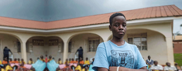 Leah celebrated her 15th birthday by planting more than 200 trees. She has managed to form a band of young activists who hold protests against climate change in Uganda.